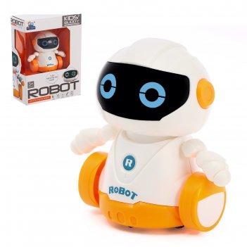 Робот бади, ездит по линии, световые эффекты, работает от батареек