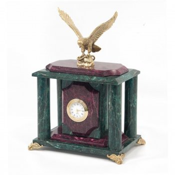 Часы орел змеевик бронза