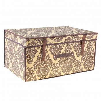 Контейнер для хранения, жесткий, цвет коричневый