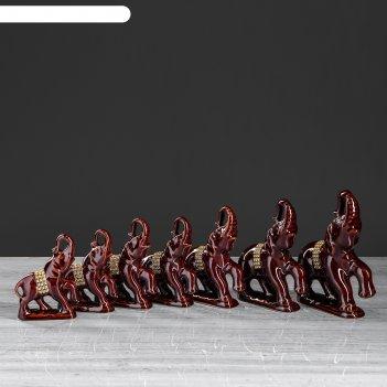 Оберег-статуэтка слоны 7 предметов