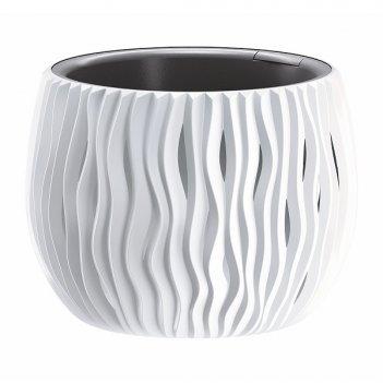 Кашпо для цветов prosperplast sandy bowl 9л, белый