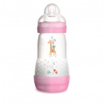 Бутылочка для кормления easy start, 260 мл., цвет розовый, от 2 мес.
