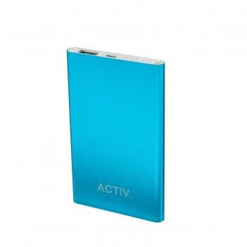 Внешний аккумулятор activ vitality 4500 мач, синий