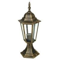 Светильник tdm 6060-14 садово-парковый шестигранник, 60вт, стойка, бронза