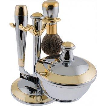 Набор д/бритья mss 90232 c/g chrome&gold совместим с gillette mach-3