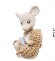 Jp-121/ 6 фигурка мышка с орехом (pavone)
