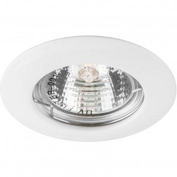 Встраиваемый светильник dl13, mr16, 50w, цвет белый, d=52мм
