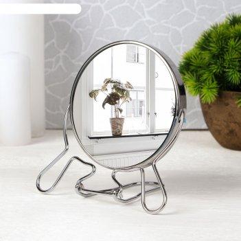 Зеркало мет скл-под круг (2) metal 4r d9/11*18,5см увел серебр кор