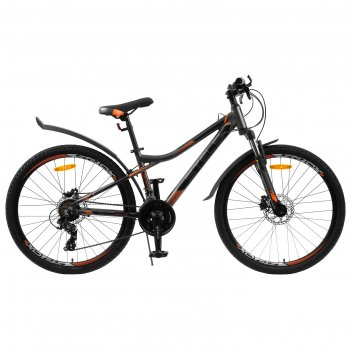 Велосипед 26 stels navigator-610 d, v040, цвет антрацитовый/оранжевый, раз