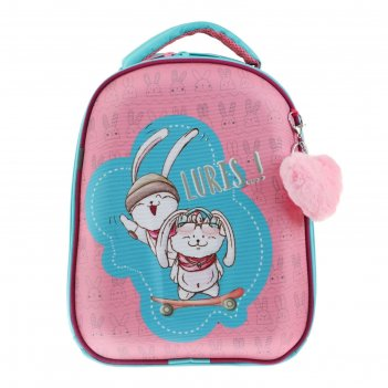 Рюкзак каркасный luris 38 х 30 х 17 джой 1, для девочки + мешок для обуви