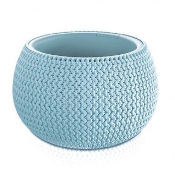 Кашпо для цветов splofy bowl dksp370-656u голубой 2 предмета 9л