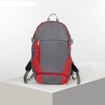 Рюкзак тур вояджер 2, 35л, 25*17*50, 2 отд на молниях, н/карман, серый/кра