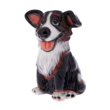 Статуэтка собака джек, чёрно-белая
