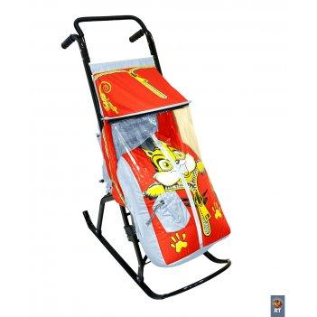 Санки-коляска снегурочка-2-рбельчоноксерый-кра
