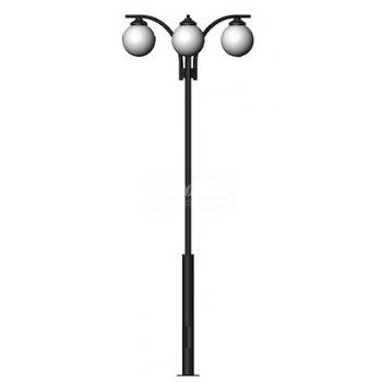 Стальной фонарный столб т-15-3 со светильником 3,76 м
