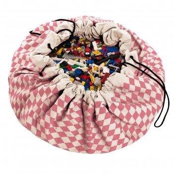 Игровой коврик-мешок для хранения игрушек 2 в 1 play go, коллекция print р