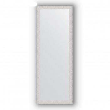 Зеркало в багетной раме - чеканка белая 46 мм, 51 х 141 см, evoform