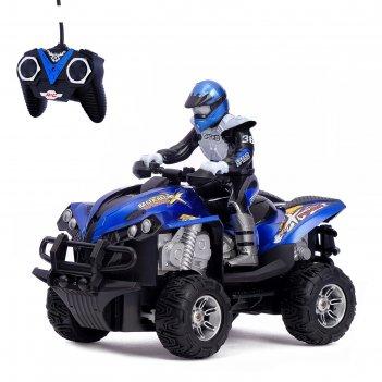 Мотоцикл радиоуправляемый квадроцикл, световые эффекты, 1:12, цвета микс