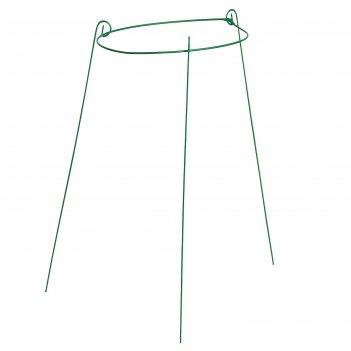 Кустодержатель, d = 33 см, h = 70 см, ножка d = 0.3 см, металл, зелёный