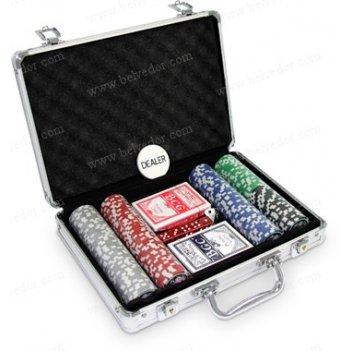 (200) набор фишек для покера 200 шт. casino