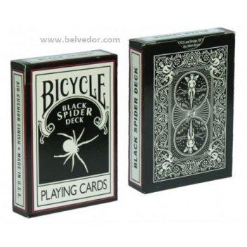 Bicycle black spider deck