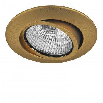 Светильник встраиваемый teso adj 50вт gu5.3; gu10 латунь