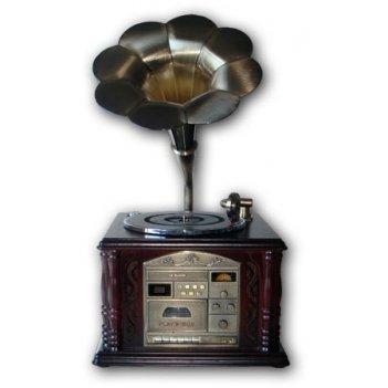 Ретро-проигрыватель gramophone-ii (cd/mp3//turnable/radio/ta