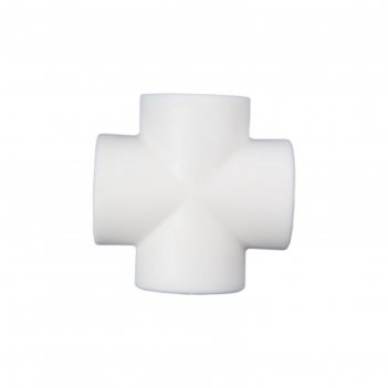 Крестовина meerplast, d=25 мм, белая