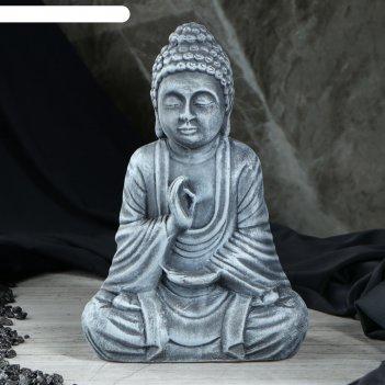 Сувенир будда серый