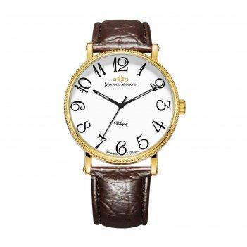 Часы наручные мужские михаил москвин классика кварцевые модель 1128a2l2