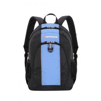 Рюкзак wenger цв. чёрный/голубой