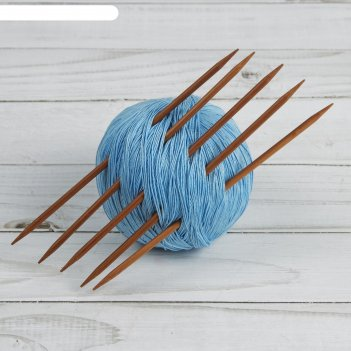 Спицы для вязания, чулочные, 15 см, d = 3,5 мм, 5 шт