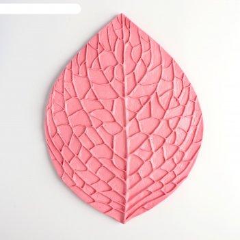 Молд лист розы 27,5х20,5 см