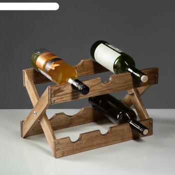 Стеллаж винный из массива ясеня, 30х30х30 см