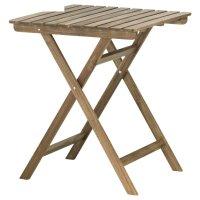 Садовый стол аскхольмен, складной серо-коричневая морилка