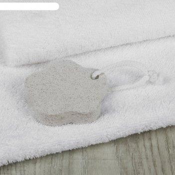 Пемза для педикюра «цветок», 7,5 x 7,5 см, цвет белый