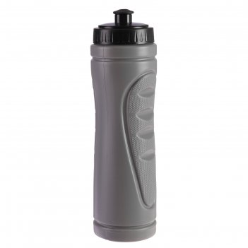 Бутылка для воды 750 мл «классика», велосипедная, пластик hdpe, серая, 7.5