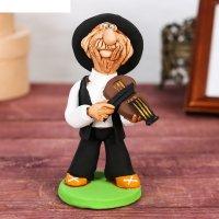 Статуэтка еврей - музыкант со скрипкой