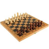 Сувенирная игра настольная 3 в 1 нарды шахматы шашки, дерево 34х34х4,5см н