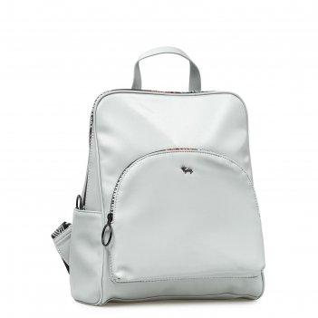 Рюкзак, отдел на молнии, цвет серый