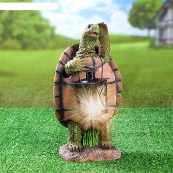 Садовый фонарь черепаха с фонарем 20х18х37см