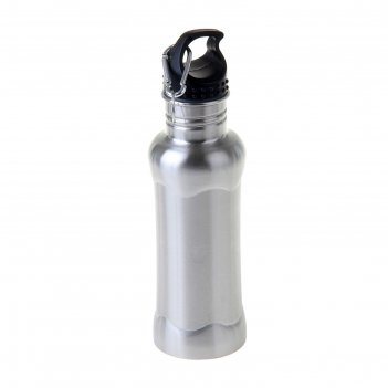 Фляжка-бутылка с карабином 700 мл,металлик