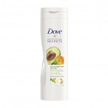 Лосьон для тела dove «пробуждающий», с маслом авокадо и экстрактом календу
