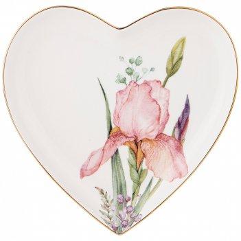 Тарелка - сердце lefard iris 15*2 см