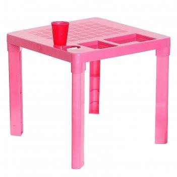 Стол детский, цвет: розовый