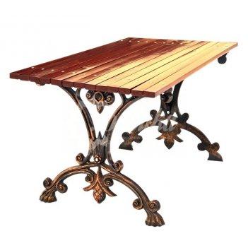Чугунный стол «аллея» 1,5 м