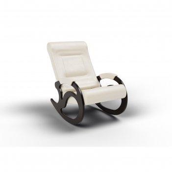 Кресло-качалка «вилла», 1040 x 640 x 900 мм, экокожа, цвет крем