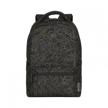 Рюкзак wenger 16'', черный с рисунком, полиэстер, 36 x 25 x 45 с