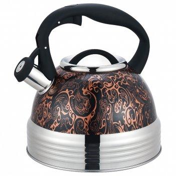 Чайник agness со свистком индукцион. капсульное дно 2,8 л (кор=6шт.)