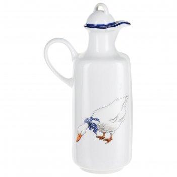 Бутылка для масла 0,5 л, saphyr, декор гуси